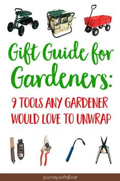 If you're looking for a gift for a gardener in your life, any one of these nine tools would be an excellent choice! Suitable for any budget, these tools will become a gardener's go-to option for planting, weeding, or harvesting. Storage Shed Organization, Garden Tool Storage, Storage Sheds, Garage Storage, Best Garden Tools, Gardening For Beginners, Gardening Tools, Organic Gardening, Planting Tools