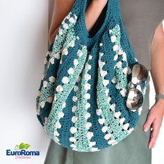 Artesanato com amor...by Lu Guimarães: Bolsa Fantasia em Crochê com Barbante EuroRoma