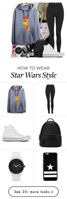 """""""First light breaks in the morning skies"""" by yazbo on Polyvore featuring Nixon, Topshop, Givenchy and Converse"""