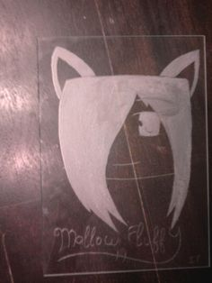 MallowFluffy! My first try on glass. It is a project of school  Made by Me