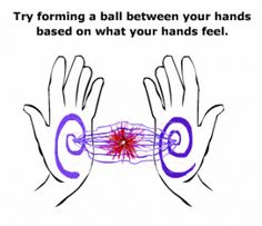 Place your hands gently on or just above your body and allow that healing energy to flow from your hands into you Can you feel heat or any form of energetic sensation as you do this? This is the beginning of being able to direct healing energy.