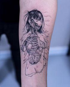 "3,558 Likes, 27 Comments - OOZY (최우진) (@oozy_tattoo) on Instagram: ""Gantz+anatomy ⚫️ . #oozytattoo #oozy #gantz"""