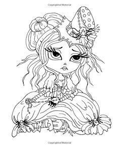 geisha coloring books kids colouring girly girl big eyes colour book digital stamps ephemera heather orourke
