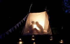 Its cold as hell here.. but I'd love to set something up like this in the living room.. and have us a little romantic camp out!! No TV, phones, or pinterest... just blankets, pillows, yummy snacks, a bottle of wine and you & me!!!