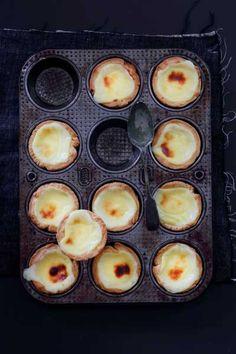 Traditional Portuguese custard tarts.