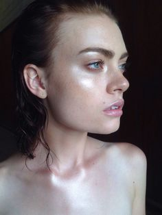 Leather MU - aside from the liner, maybe we focus more on copper/bronzy tones for this look and more of a blush tone look for the ethereal looks?