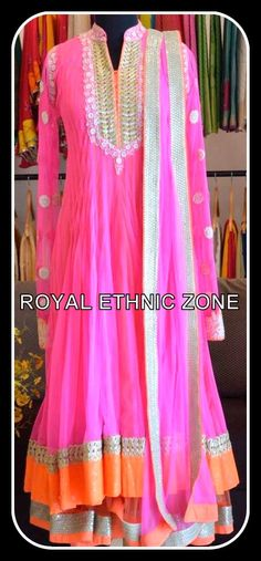 STYLE NO. REZ 222 BABY PINK ANARKALI LEHENGA PRICE- 19000/- FABRIC- NET EMBROIDERY- THREAD WORK, HEAVY KUNDAN BORDER,SEQUENCE WORK BORDER