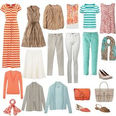Bring your spring capsule pieces into summer. Love this color palette!