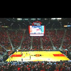 San Diego State University. Viejas Arena. Home of the SDSU Aztecs.