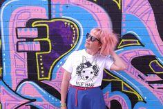 Funny Screen Printed T-shirt, Nice Hare Tee by hello DODO, funny animal t-shirt, handprinted tee, rabbit shirt, unisex shirt, boyfriend tee