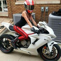 Sport bike girl.. Love the bike, not the girl