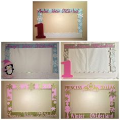 Winter Onederland One Birthday Photo Booth Frame To Take Pictures