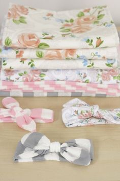 diy baby headbands & swaddle blankets