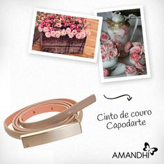 O cinto de couro Capodarte pode ser usado tanto em looks casuais quanto em looks mais formais! | Amandhí | www.amandhi.com |
