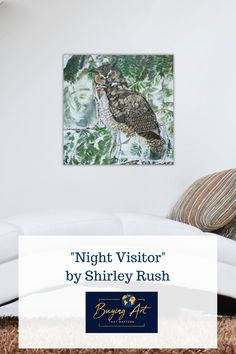Shirley Rush painted this realistic, wise owl later in her  life and it is now for sale on Buying Art That Matters website. One of  our missions is to help children sell their parent's art so that their  gifts can be shared with others. We want to help aging artists and their  children leave a legacy, not a mess!Half the proceeds from out website  go to fund Christian Mission projects across the globe. #artforsale #realisticart #natureart #birdart #artwithmeaning Realistic Paintings, Acrylic Paintings, Art Paintings, Original Artwork, Original Paintings, Art With Meaning, Mission Projects, Modern Portraits, Wise Owl