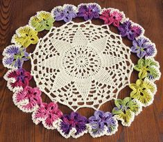 Crochet this table topper with our free pattern using Mary Maxim Fresh yarn. Crochet Table Topper, Table Topper Patterns, Table Toppers, Crochet Hook Sizes, Thread Crochet, Easy Crochet, Knit Crochet, Crotchet, Crochet Doily Patterns