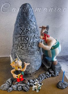 Asterix and Obelix cake - Cake by Mania M. - CandymaniaC