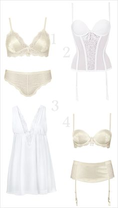 Bridal lingerie ideas for your wedding day and night. ---> http://www.weddingchicks.com/2014/06/05/bridal-lingerie/