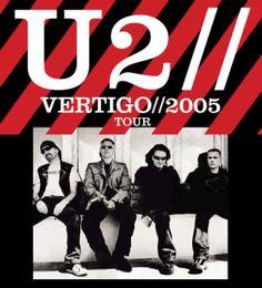 U2, Vertigo Tour on Sept. 25, 2005 at Bradley Center, Milwaukee, WI.  Best concert of all!  So close we could touch them!