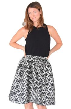 A full skirt with a fitted waist is always a win for pear shapes!