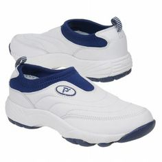 Propet Wash & Wear Slip-on Shoes (White/Navy) - Women's Shoes - 8.0 M