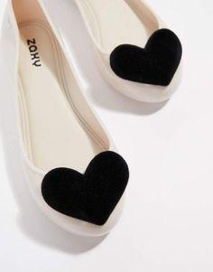 2e2e420f44fb Zaxy flock heart valentines flat shoes Melissa Shoes