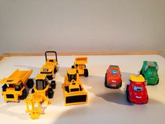 Heavy equipment car collection.