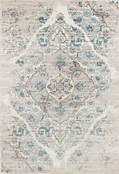 Distressed Ivory Floral Oriental Traditional Area Rugs