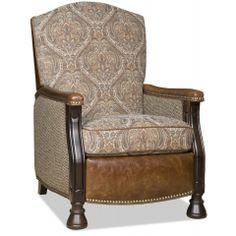 Chairs That Recline Homestead High Leg Lounger with Brass Nails by Bradington Young at Baer's Furniture Leather Dining Chairs, Upholstered Dining Chairs, Dining Room Chairs, Steel Furniture, Cool Furniture, Living Room Furniture, Living Room Remodel, My Living Room, Riverside Furniture