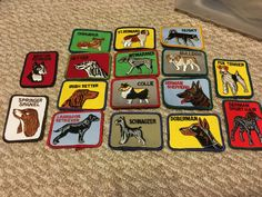16 different vintage dog breed patches! They all measure 3.5x2.5 inches  These…