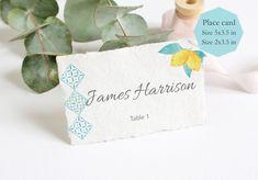 Lemon Place Card Tem