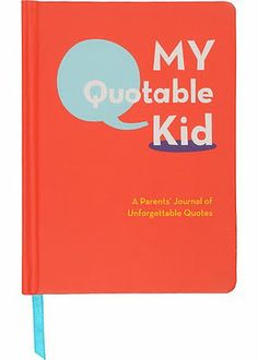 This keepsake journal, spotted on Cup of Jo today, would make the perfect gift for a baby shower or first birthday party. Keep it handy in your kitchen or living room, and jot down each cute and funny quote from your child that you'd like to remember forever.