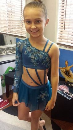 midnight teal contemporary lyrical dance costume