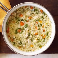 Chicken, Vegetable and Orzo Soup | Weight Watchers Canada