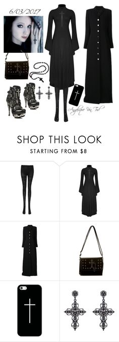 """Cross Gothic"" by angelique-von-tod ❤ liked on Polyvore featuring Y/Project, Casetify and Ju Ju Be"