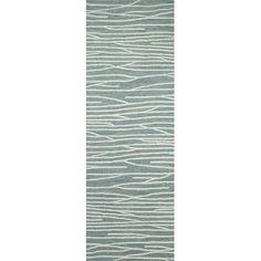 "Brayden Studio Luczak Hand-Tufted Aqua Area Rug Rug Size: Runner 2'6"" x 8'"
