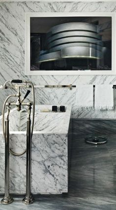 A custom marble bathtub is probably the ultimate luxury for the bathroom.