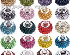 11mm Loose Crystals Beads Charms Bracelet Spacer Rhinestone Pave Disco Balls CZ FREE SHIPPING 1/5/10/20/30/50/100/200 pcs