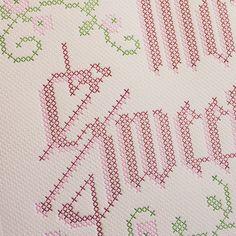 Mom, Sweet Mom Mother's Day card - letterpress looks like cross stitch!