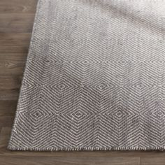"""Features:  -Marcelo collection.  -Pile Height: 0.5"""".  Technique: -Flat woven.  Primary Color: -Medium Gray.  Type of Backing: -Canvas.  Material: -Wool/Cotton.  Product Care: -Spot clean with a mild d"""