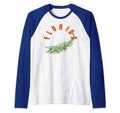 Raglan Baseball Tee, Florida, Usa, Amazon, Tees, Long Sleeve, Sleeves, Mens Tops, T Shirt