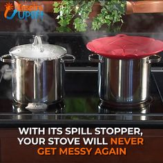 Multi-Purpose Lid Cover and Spill Stopper ? Multi-Purpose Lid Cover and Spill Stopper ? Cool Kitchen Gadgets, Kitchen Items, Kitchen Hacks, Kitchen Tools, Cool Kitchens, Kitchen Products, Cooking Gadgets, Cooking Tools, Cooking Pasta