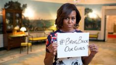 Michelle Obama Join Bring Back Our Girls Campaign For Missing Nigerian Girls
