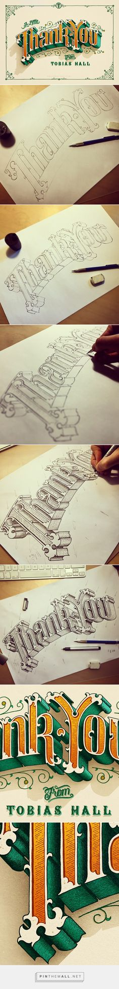 Thank You - Tobias Hall lettering sketch process