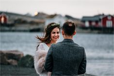 What's it like to get married during the polar night when the sun doesn't rise? Check out this Lofoten Elopement in Norway and you'll see! Snow Wedding, Elope Wedding, Winter Wedding Inspiration, Elopement Inspiration, Beautiful Norway, See The Northern Lights, Norway Travel, Lofoten, Intimate Weddings