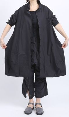 rundholz dip - Longbluse Kleid Ballonform navy gum - Sommer 2016 - stilecht - mode für frauen mit format...