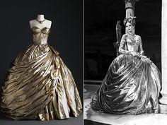 Imagem do vestido usado por Gracey Kelly em 'Ladrão de casacas'