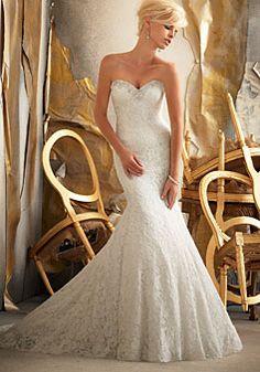 Button Back Chapel Train Natural Waist Wedding Dress - Promdresshouse.com