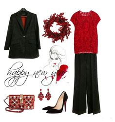 """""""new year outfit"""" by elvinazipova on Polyvore featuring Dolce&Gabbana and Christian Louboutin"""