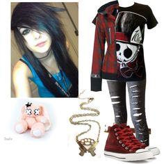 """""""Emo school outfit #6"""" by xbrokenbonesx on Polyvore"""
